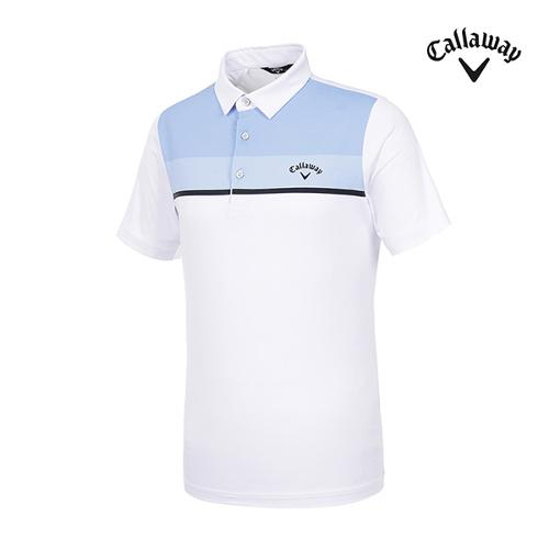 [캘러웨이]남성 컬러블록 반팔 티셔츠 CMTYI2260-100_G