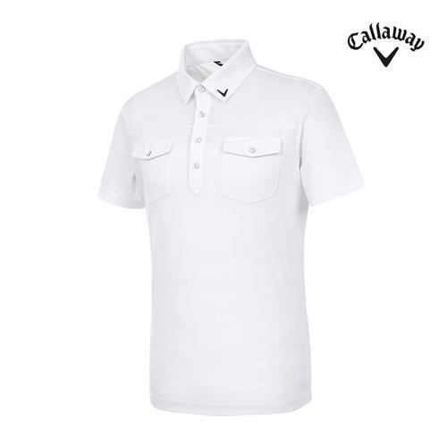 [캘러웨이]남성 플랩 포켓 반팔 티셔츠 CMTYI2254-100_G