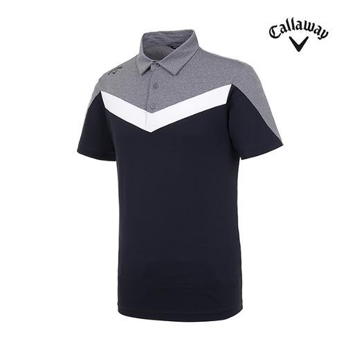 [캘러웨이]남성 컬러블록 반팔 티셔츠 CMTYI2246-199_G