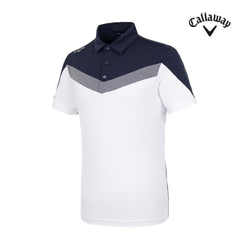 [캘러웨이]남성 컬러블록 반팔 티셔츠 CMTYI2246-100_G
