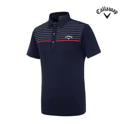 [캘러웨이]남성 스트라이프 반팔 티셔츠 CMTPI2346-925_G