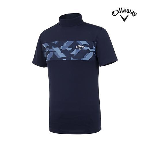 [캘러웨이]남성 블러킹 반팔 하이 티셔츠 CMTHI2252-925_G