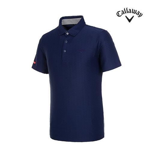 [캘러웨이]남성 엠보 패턴 반팔 티셔츠 CMTYI2368-925_G