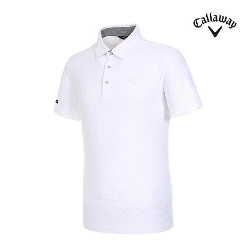 [캘러웨이]남성 엠보 패턴 반팔 티셔츠 CMTYI2368-100_G