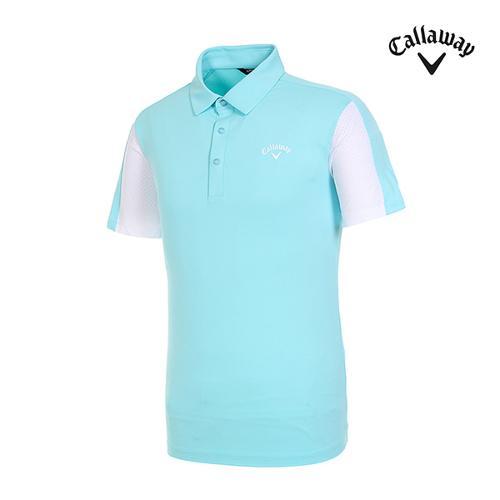 [캘러웨이]남성 펀칭 도트 반팔 티셔츠 CMTYI2343-830_G