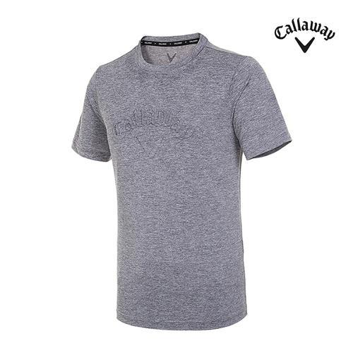 [캘러웨이]남성 엠보 로고 반팔 티셔츠 CMTRI2351-193_G