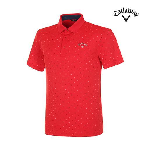 [캘러웨이]남성 올오버 로고 반팔 티셔츠 CMTPI2943-500_G