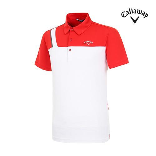 [캘러웨이]남성 컬러 블록 반팔 티셔츠 CMTYI2371-500_G