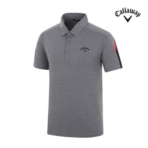 [캘러웨이]남성 피케이 소매 배색 티셔츠 CMTYH2153-190_G