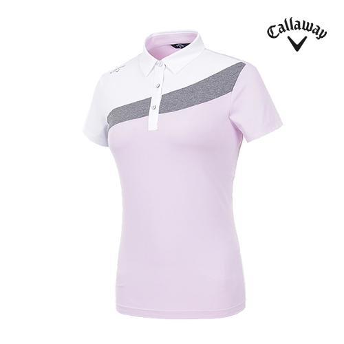 [캘러웨이]여성 컬러블럭 반팔 티셔츠 CWTYI6246-610_G