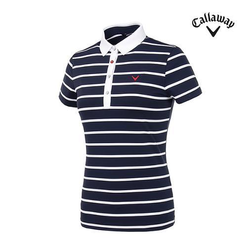 [캘러웨이]여성 스트라이프 반팔 티셔츠 CWTYI6349-925_G