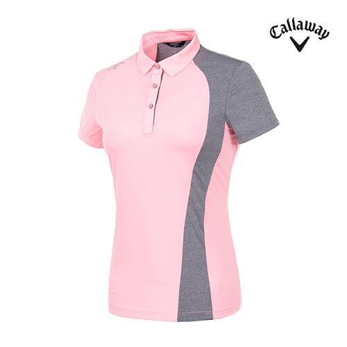 [캘러웨이]여성 컬러블록 반팔 티셔츠 CWTYI6345-304_G