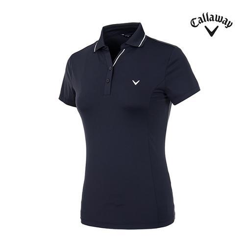 [캘러웨이]여성 라인 포인트 반팔 티셔츠 CWTPI6347-925_G