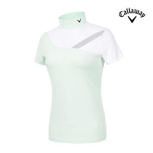 [캘러웨이]여성 하이넥 반팔 티셔츠 CWTHI6251-820_G