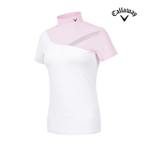 [캘러웨이]여성 하이넥 반팔 티셔츠 CWTHI6251-411_G