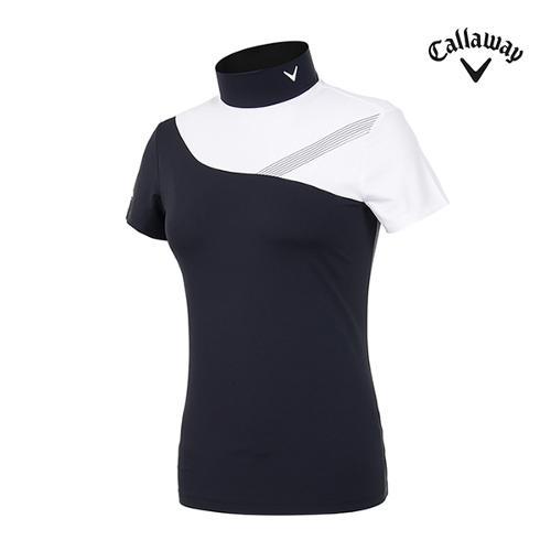 [캘러웨이]여성 하이넥 반팔 티셔츠 CWTHI6251-199_G