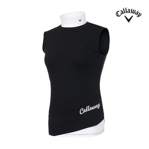 [캘러웨이]여성 골지 슬리브리스 티셔츠 CWTHI6152-199_G