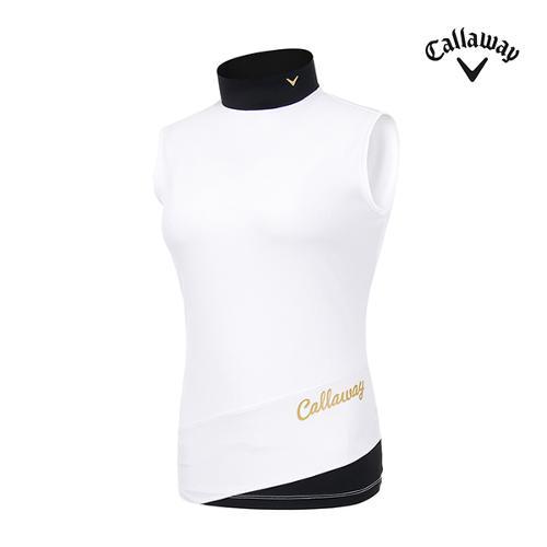 [캘러웨이]여성 골지 슬리브리스 티셔츠 CWTHI6152-100_G