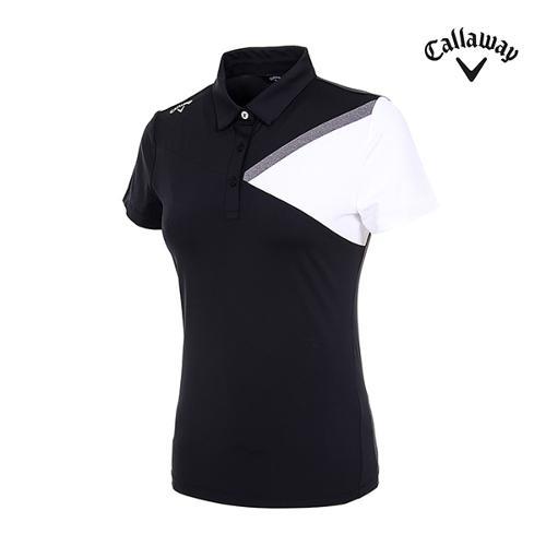 [캘러웨이]여성 컬러 블러킹 반팔 티셔츠 CWTYI6348-925_G