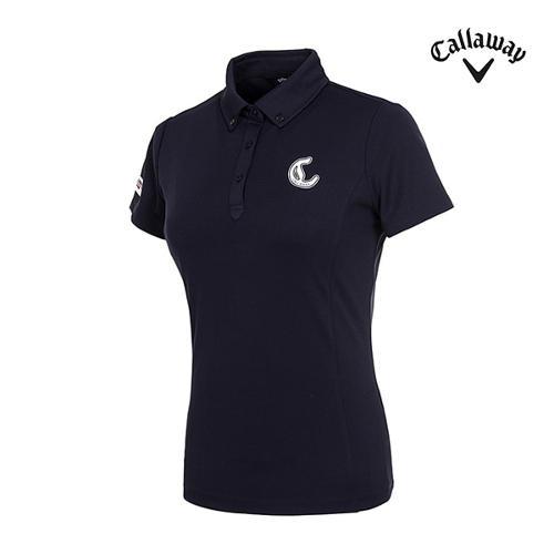 [캘러웨이]여성 로고 솔리드 와플 티셔츠 CWTYI6353-925_G