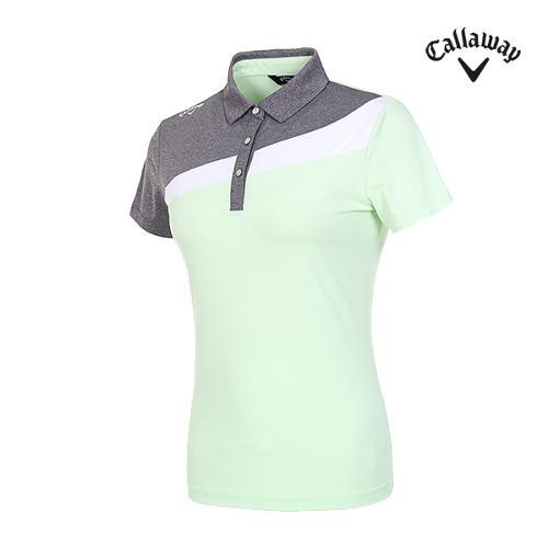 [캘러웨이]여성 컬러블럭 반팔 티셔츠 CWTYI6246-820_G