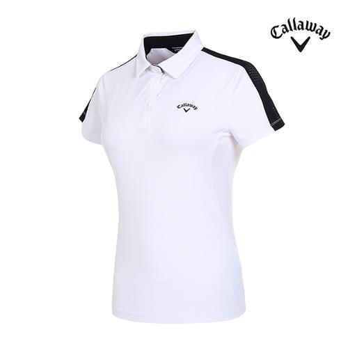 [캘러웨이]여성 메쉬 라인 반팔 티셔츠 CWTYI6141-100_G