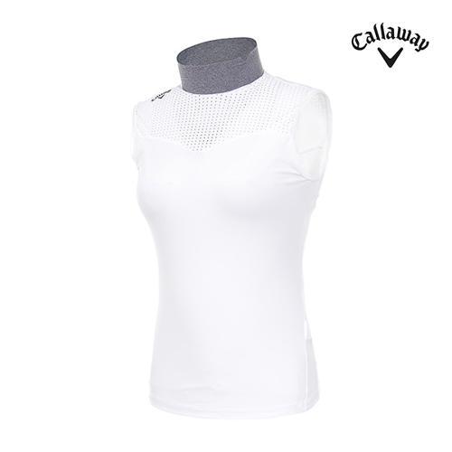 [캘러웨이]여성 메쉬 슬리브리스 티셔츠 CWTHI6255-100_G