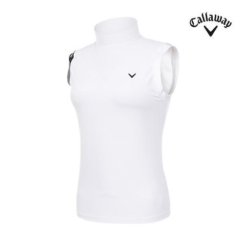 [캘러웨이]여성 슬리브리스 하이넥 티셔츠 CWTHI6253-100_G