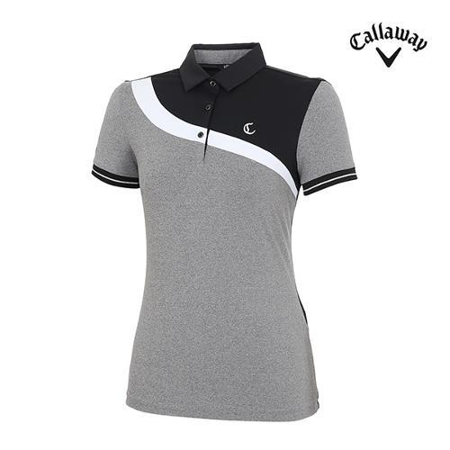 [캘러웨이]여성 모노 커브 포인트 티셔츠 CWTYI6942-199_G