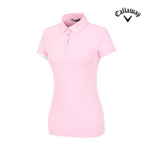 [캘러웨이]여성 스냅 버튼 반팔 티셔츠 CWTYI6242-411_G