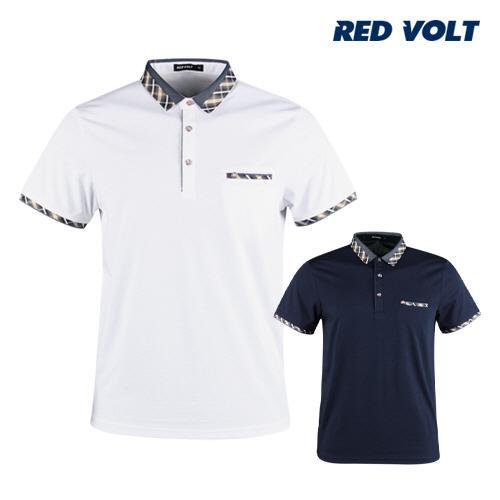 레드볼트 남성 반팔 골프 카라셔츠 RM1M412