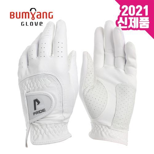 [2021년신제품]범양글러브 PRIDE 0402빨아쓰는원단 반양피 여성용 골프장갑-양손1SET