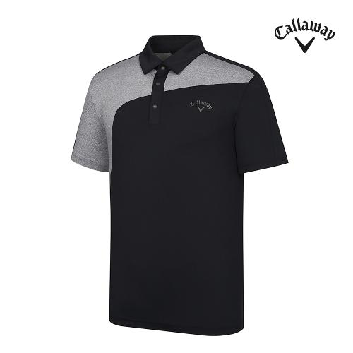 [캘러웨이]기획 남성 컬러블럭 카라 반팔 티셔츠 CMTYJ2442-199