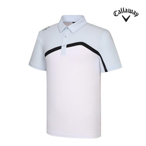 [캘러웨이]기획 남성 뒷판 매쉬 배색 반팔 티셔츠 CMTYJ2444-906_G