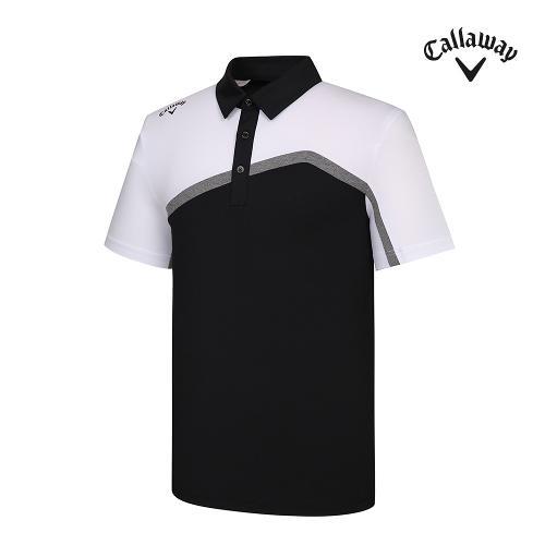 [캘러웨이]기획 남성 뒷판 매쉬 배색 반팔 티셔츠 CMTYJ2444-199_G