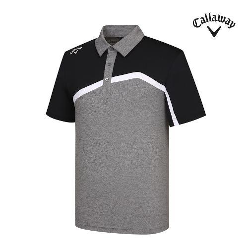 [캘러웨이]기획 남성 뒷판 매쉬 배색 반팔 티셔츠 CMTYJ2444-193_G
