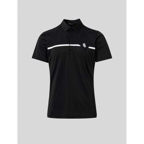 [빈폴골프] [NDL라인] 남성 블랙 메쉬 라인 믹스 칼라 티셔츠 (BJ1442M465)