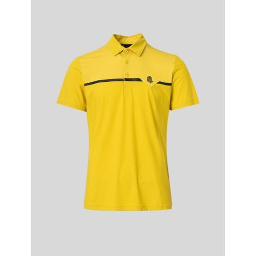 [빈폴골프] [NDL라인] 남성 옐로우 메쉬 라인 믹스 칼라 티셔츠 (BJ1442M46E)