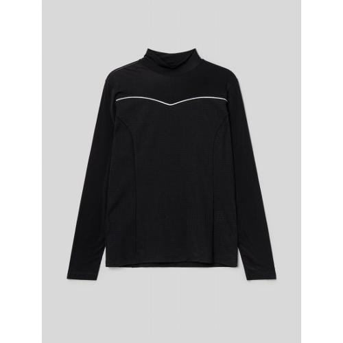 [빈폴골프] [NDL라인] 여성 블랙 홀메쉬 올인원 냉감 티셔츠 (BJ1441L535)