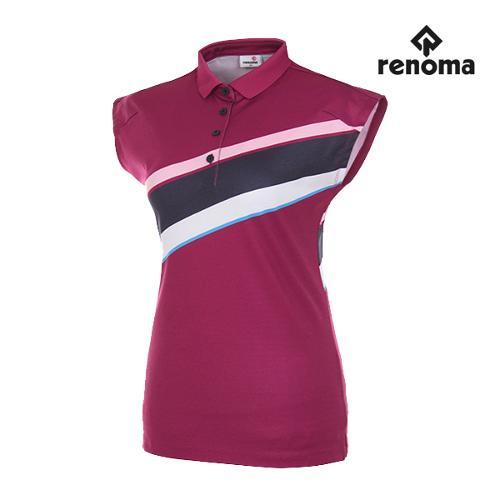 [레노마골프]여성 사선 배색 민소매 티셔츠 RWTSG6133-604_G