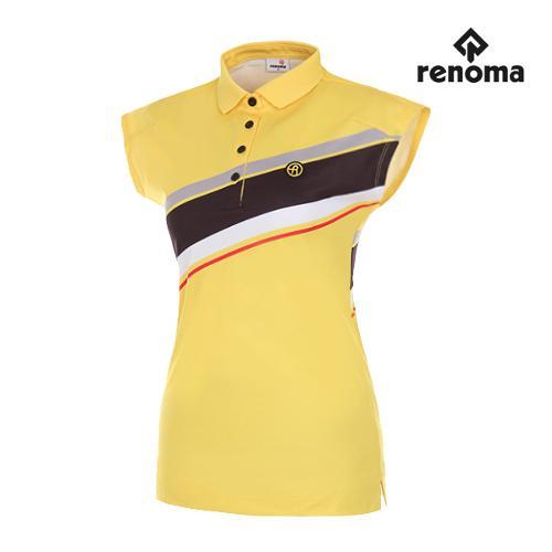[레노마골프]여성 사선 배색 민소매 티셔츠 RWTSG6133-203_G
