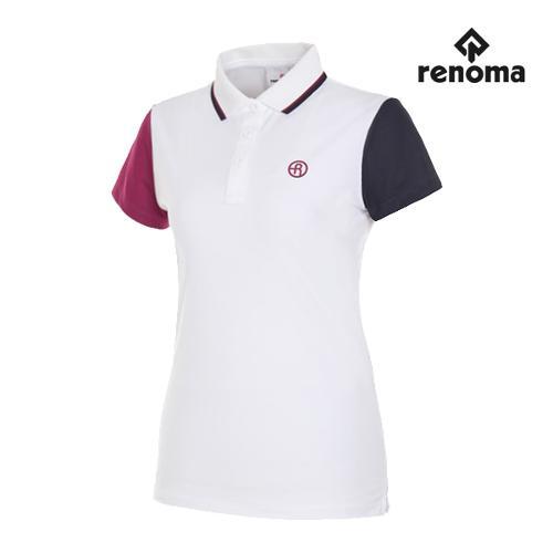 [레노마골프]여성 언발란스 반팔 티셔츠 RWTPG6134-100_G