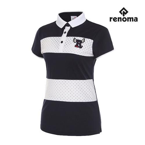 [레노마골프]여성 레이스 반팔 티셔츠 RWTPG6128-120_G