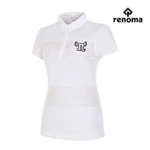 [레노마골프]여성 레이스 반팔 티셔츠 RWTPG6128-100_G