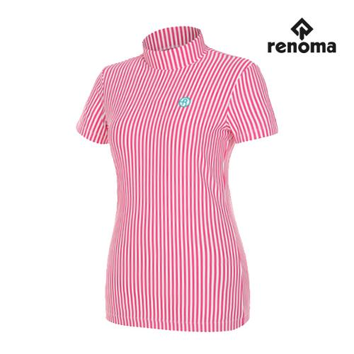 [레노마골프]여성 버티컬 하이넥 반팔 티셔츠 RWTHG6121-403_G