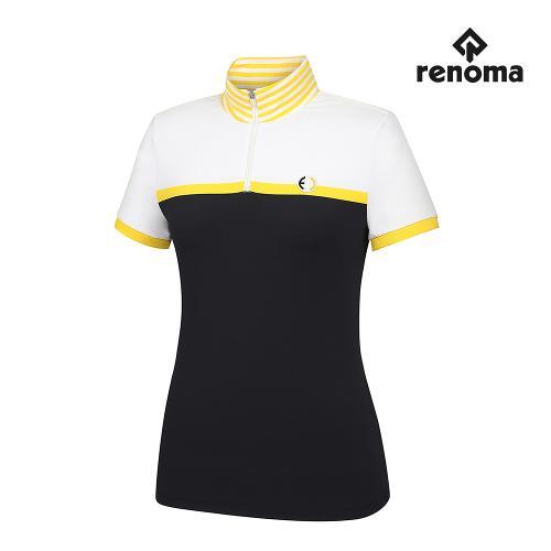 [레노마골프] 여성 컬러 블록 반집업 반팔 티셔츠 RWTHH6107-199_G