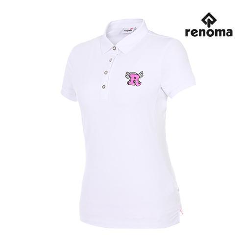[레노마골프] 여성 매쉬 패치 카라 반팔 티셔츠 RWTYG6103-100_G