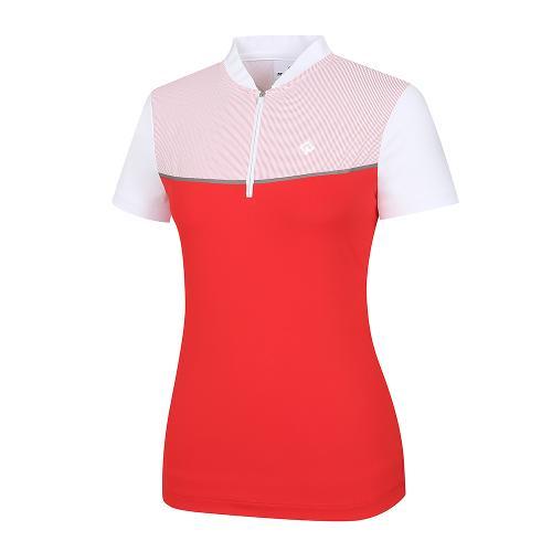 [레노마골프]여성 배색 반집업 반팔 티셔츠 RWTHI6162-500_G