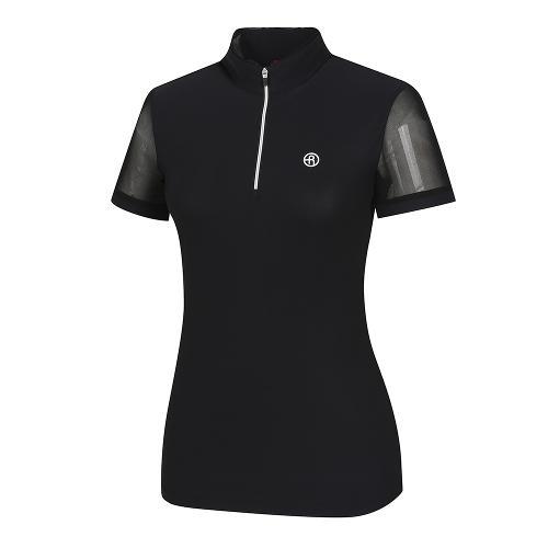 [레노마골프]여성 소매 시스루 반집업 반팔 티셔츠 RWTHI6129-199_G