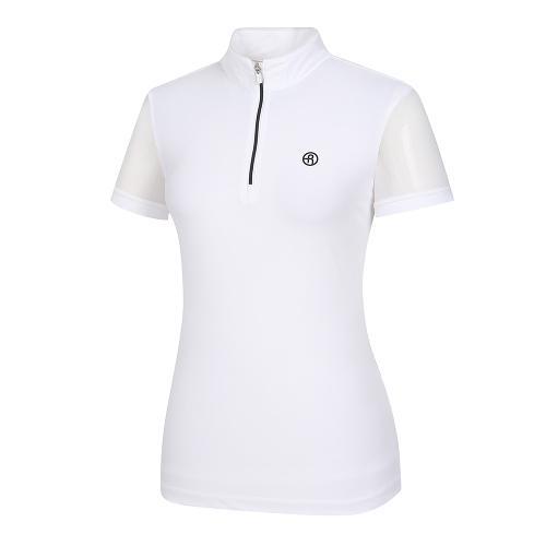 [레노마골프]여성 소매 시스루 반집업 반팔 티셔츠 RWTHI6129-100_G